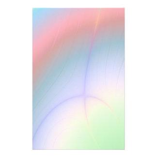 Faded Rainbow Aurora Abstract Stationery