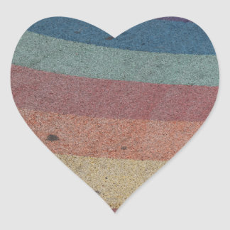 Faded Rainbow Range Heart Sticker