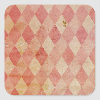 Faded red argyle wallpaper pattern square sticker