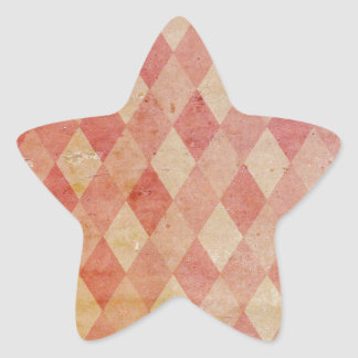 Faded red argyle wallpaper pattern star sticker
