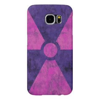 Faded Red Radiation Symbol
