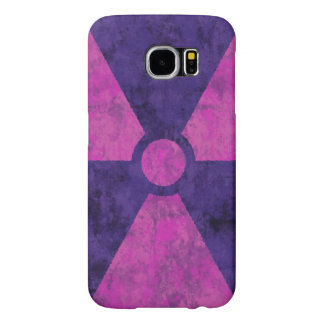 Faded Red Radiation Symbol Samsung Galaxy S6 Cases