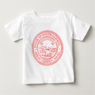 Faded Red South Dakota Baby T-Shirt