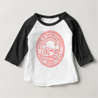 Faded Red South Dakota Baby T-Shirt