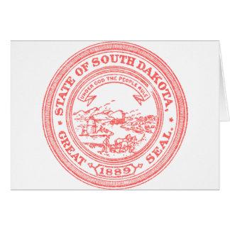 Faded Red South Dakota Card
