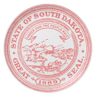 Faded Red South Dakota Plate