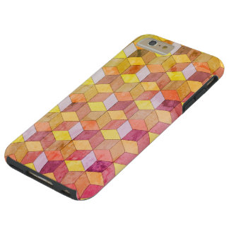 Faded Retro Cubes Tough iPhone 6 Plus Case