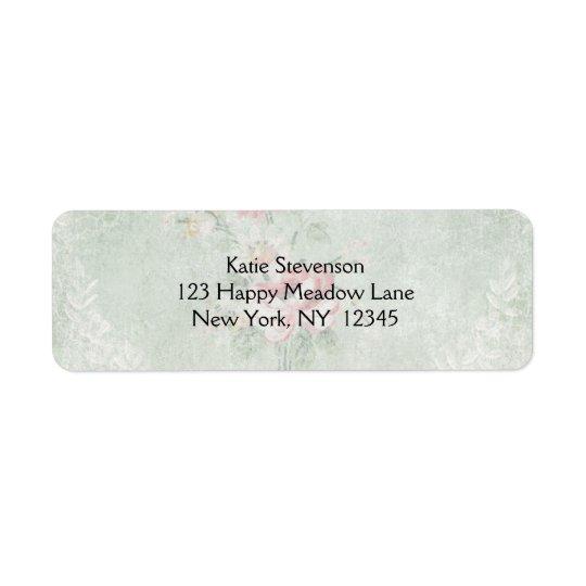 Faded Roses Vintage Design Return Address Label