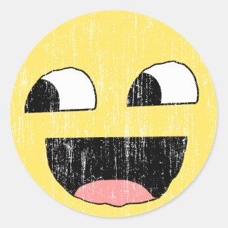 Faded Sarcastic Smiley Sticker