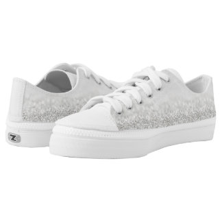 Faded Silver Glitter Low Top Shoes
