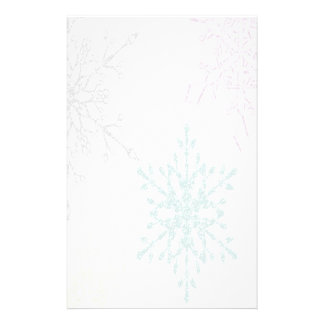 Faded Snowflake Winter Holiday Stationery