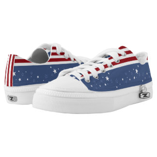 Faded Stars and Stripes Low Tops