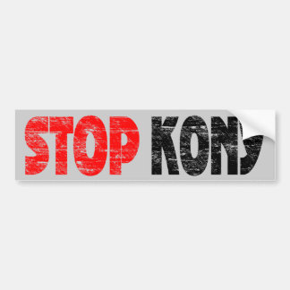 Faded Stop Kony Bumper Sticker