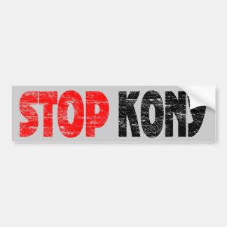 Faded Stop Kony Bumper Sticker