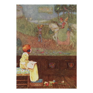 Faded Tapestry by Millicent Sowerby Poster