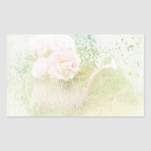 Faded Textures Peony Bouquet Rectangle Stickers