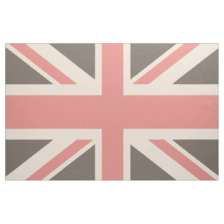 Faded UK United Kingdom Union Jack Flag Fabric