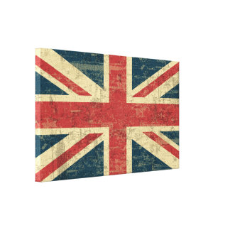 Faded Union Jack Canvas Print