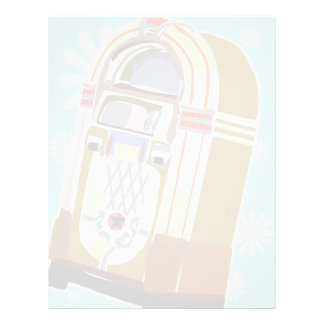 Faded Vintage Jukebox Illustration 21.5 Cm X 28 Cm Flyer