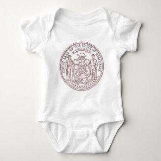 Faded Wisconsin Seal Baby Bodysuit