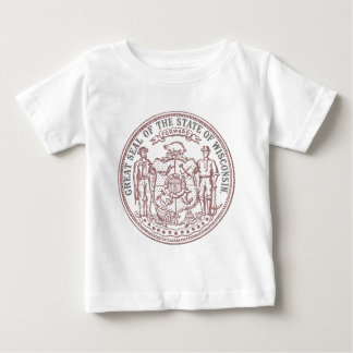 Faded Wisconsin Seal Baby T-Shirt