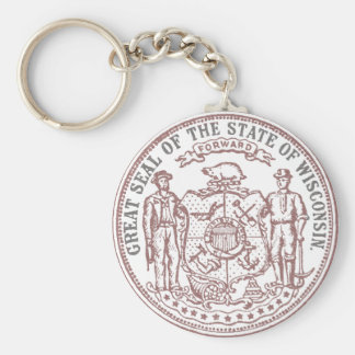 Faded Wisconsin Seal Key Ring