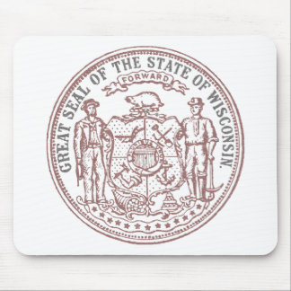 Faded Wisconsin Seal Mouse Pad