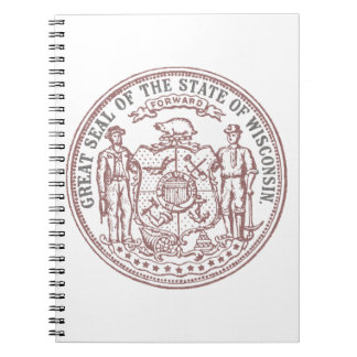 Faded Wisconsin Seal Notebooks