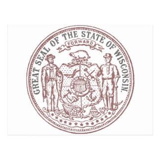Faded Wisconsin Seal Postcard