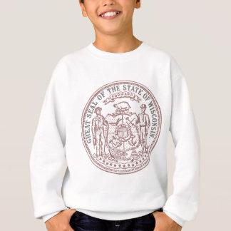 Faded Wisconsin Seal Sweatshirt