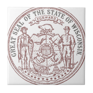 Faded Wisconsin Seal Tile