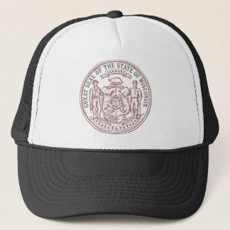 Faded Wisconsin Seal Trucker Hat