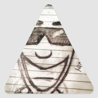 Faded with Shades (Sketch) Triangle Sticker