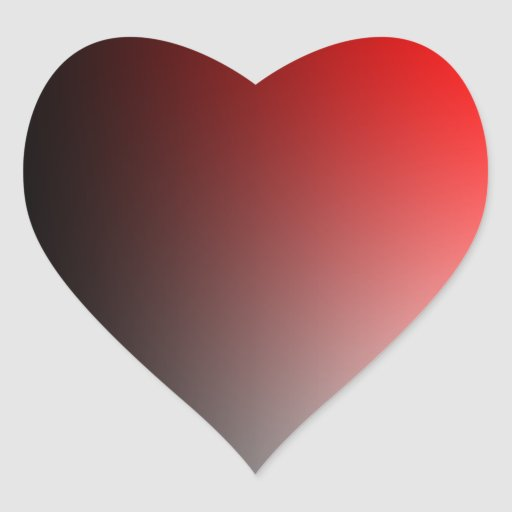 Fades: Black and Red Heart Stickers