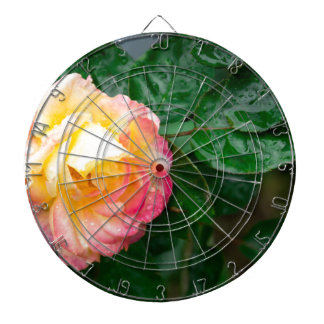 Fading autumn rose dartboard