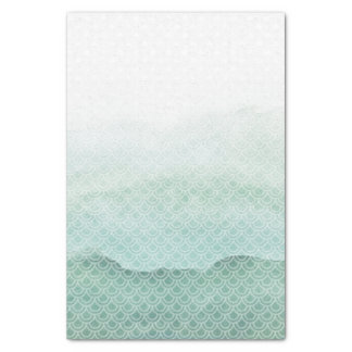 Fading Green Mermaid Tale Scales Tissue Paper