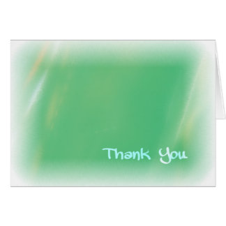 FADING GREEN THANK YOU NOTE CARD