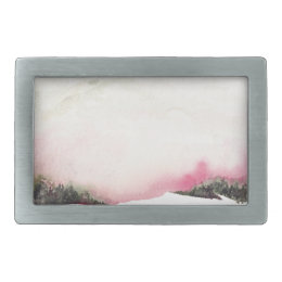 Fading mountains belt buckle