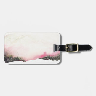 Fading mountains luggage tag