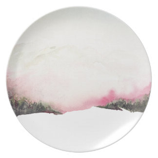 Fading mountains plate