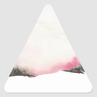 Fading mountains triangle sticker