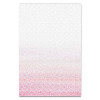 Fading Pink Mermaid Tale Scales Tissue Paper