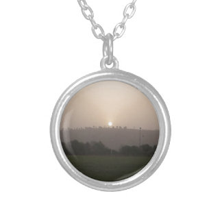 Fading Sun Silver Plated Necklace