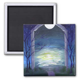 Fae Haven fairy world magnet 2 Inch Square Magnet