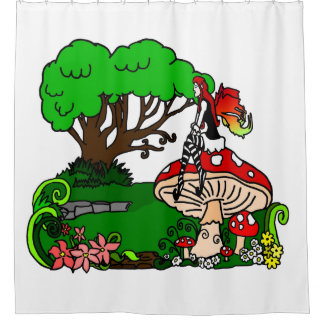 Faerie Garden Shower Curtain