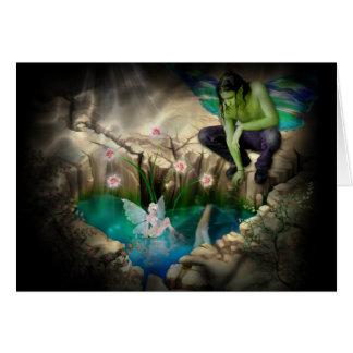 Faerie in Elven Pond Vignette Card