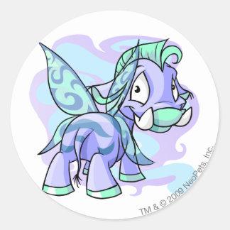 Faerie Moehog Round Sticker