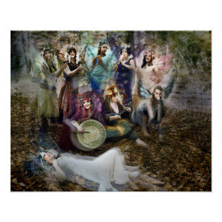 Faerie Musicians Poster by Cheryl Fair
