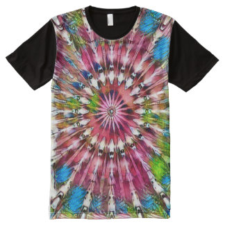 Faerie Wheel of Fortune Fantasy Watercolor Art All-Over Print T-Shirt