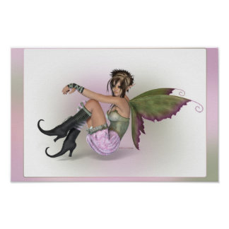 Faerie with attitude poster